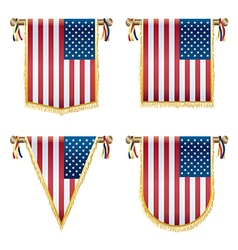 usa hanging decorations vector image vector image