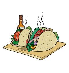 vegan taco vector image