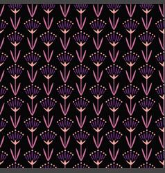 Violet oriental flwoers vector