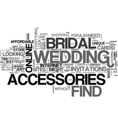 Where to find bridal accessories text word cloud vector
