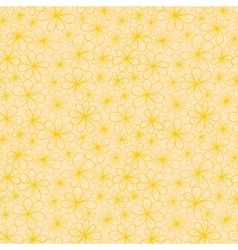 Abstract flowers seamless pattern in yellow and vector image