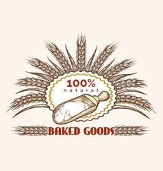 bakery goods vintage emblem vector image vector image