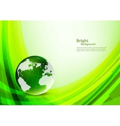 Bright green background vector image