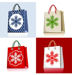 christmas bags vector image vector image