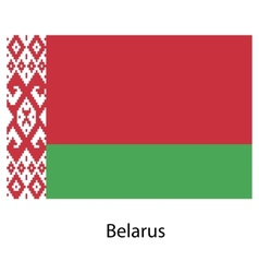 Flag of the country belarus vector image vector image