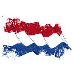 Netherlands Flag Grunge vector image vector image