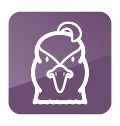 Quail icon Animal head symbol vector image vector image