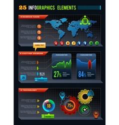 25 Infographics design elements vector image