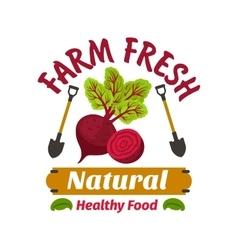 Beet Farm fresh vegan vegetable product vector image