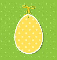 easter paper decoration in the form of egg yellow vector image vector image