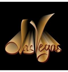 Las Vegas lettering vector image vector image