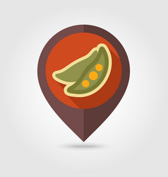 pea flat pin map icon vegetable vector image vector image