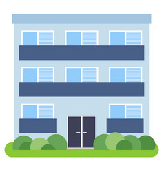private house with a blue roof and blue walls vector image