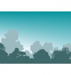 woodland treetops vector image