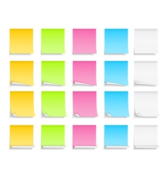 Colored Sticky Notes vector image vector image