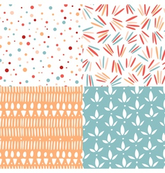 Doodle abstract patterns vector image