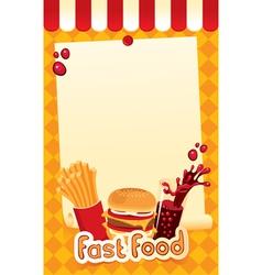 fast-food menu vector image