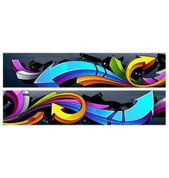 graffiti arrows banners vector image vector image