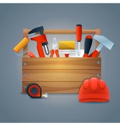 Repair construction toolbox vector image vector image