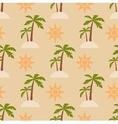 Sand beach vector image