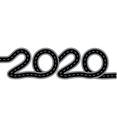2020 new year the road with markings is stylized vector