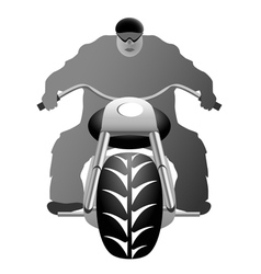 A healthy man on bike vector image