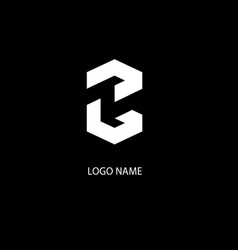 Abstract typographic t and s modern logo vector