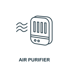 Air purifier icon simple element from personal vector