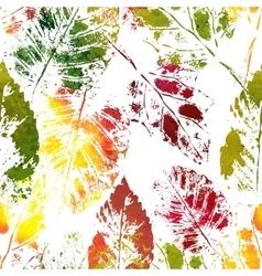 Autumn colorful leaves imprints vector