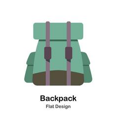 Backpack flat vector