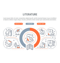 banner literature vector image