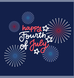 banner with festive fireworks in honor vector image