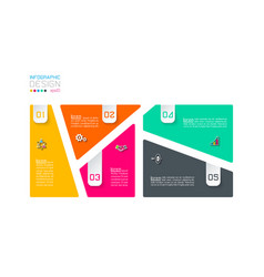 bar labels infographic with 5 steps vector image