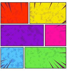 Bright colorful retro style pop art comic page vector