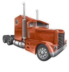 Brown Truck vector image