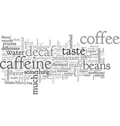Can you have good decaf espresso vector