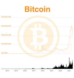 chart bitcoin from beginning to may 2021 vector image