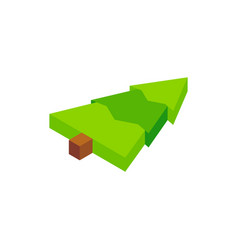 Christmas tree top isometric object vector