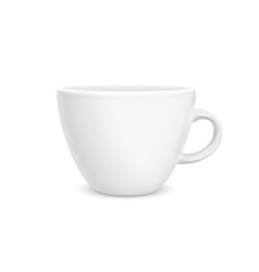 coffee white cup photorealistic style isolated on vector image