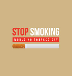 Collection of no tobacco day style background vector