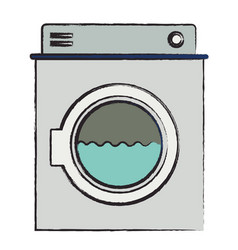 colored blurred silhouette of washing machine with vector image