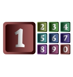 Colorful numbers in the form of buttons vector image vector image