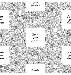 Create your Summer Seamless Pattern vector image