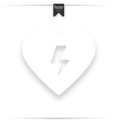 defibrillator icon aed cpr vector image