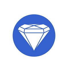 diamond gemstone vector image