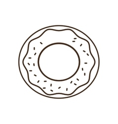Donut breakfast food menu icon vector