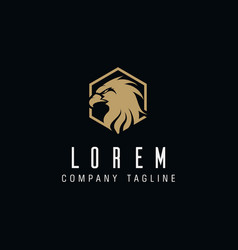 Eagle head luxury logo design concept template vector