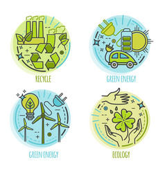 ecology green technology organic bio design vector image