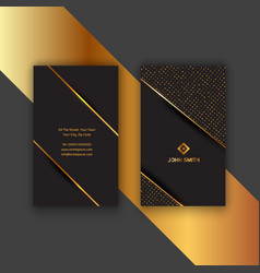 Elegant gold and black business card vector
