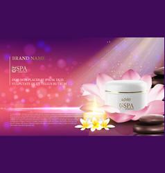 Excellent cosmetic ads facial cream vector